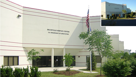 Photo of the USDA Beltsville Service Center Building